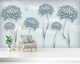 small house kitchens Australia - Custom Photo 3d Wallpaper Modern Simple Small Fresh Flower Dandelion Nordic Decorative Painting Background HD Wallpaper