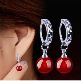 $enCountryForm.capitalKeyWord UK - New Arrival 925 Silver Hoop Earrings Natural Gem Moonlight Stone Water Drop Earrings for Women Jewelry Gift B145