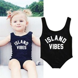 Toddlers Swimsuits Australia - Swimwear for Girls Toddler Infant Kids Baby Girls Letter Printed One Pieces Sleeveless Swimwear Beach Swimsuit Clothes #5JE22