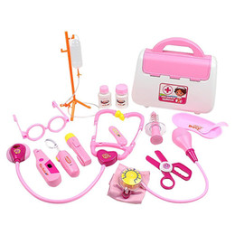 pretend tool set Australia - 15 Piece Set Kids Toys Doctor Kit Pretend To Play Dentist Medical Roleplay Tools For Children Christmas Holiday Gifts Y200428