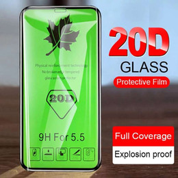 Iphone Screen Packing NZ - 20D Curved Edge Protective Glass on the For iPhone 8 X XS Max XR Tempered Glass For iPhone 7 8 6 6S Plus X Screen Protector Film Retail Pack