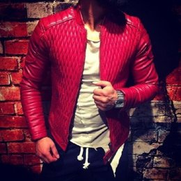 e9ad4a3bf5a New Arrivals 2019 Flight Mens Leather Jackets and Coats Red and Black Color  Plus Size XXXL Men Man PU Overcoats For Spring B147