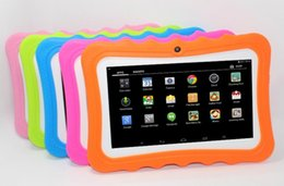 protective tablet android Australia - Kids Brand Tablet PC 7inch Quad Core children tablets Android 4.4 Allwinner A33 google player wifi big speaker protective cover