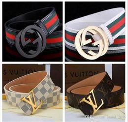 $enCountryForm.capitalKeyWord Australia - 2019 Design Belt Men and Women Fashion Belts Genuine Leather Luxury Belt Waist Belts Gold Silver Black Buckle