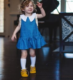 bd0027a5754 Hot Girls Baby Doll Dress Australia - ins hot sale baby girls doll collar  polka dot