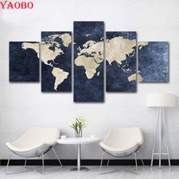 $enCountryForm.capitalKeyWord Australia - full Square round Diy Diamond Painting Abstract World Map Picture for Living Room Decor diamond mosaic Diamond Embroidery 5 pcs
