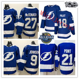 China NEW Mens Tampa Bay Lightning Tyler Johnson Jersey #18 Ondrej Palat #21 Brayden Point #27 Ryan McDonagh Tampa Bay Lightning Jersey S-3XL suppliers