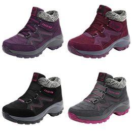 $enCountryForm.capitalKeyWord Australia - 2019 Spring Women Snow Boots Warm Plush Ankle Boots Platform Wedge Waterproof Shoes Woman Rubber 6139