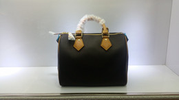 $enCountryForm.capitalKeyWord NZ - Designer- Women Genuine real Leather speedy 30 handbag shoulder bag speedy 25 strap designer handbags Ladies tote can hot stamping 41108