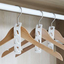 household hooks NZ - Hanger connection hook multifunctional household multi-layer space-saving storage artifact bedroom wardrobe clothes drying rack