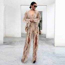 $enCountryForm.capitalKeyWord Australia - Sexy Lace Deep V-neck Night Clubs Jumpsuit 2019 New Fashion Lack Perspective Rompers Women Long sleeve Jumpsuits Pants Evening Dresses prom