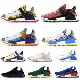 $enCountryForm.capitalKeyWord Australia - Human Cheap Race Running Running Shoes For Men Women Pharrell Williams Nerd Black White Black Blue Green Cream Mens Trainer Sports Sneakers