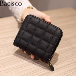 Army Wallets Australia - Bacisco Casual Women Wallets And Purses Top Quality Pu Leather Women Zipper Wallets Clutch Coin Purse Card Holder Small Wallet