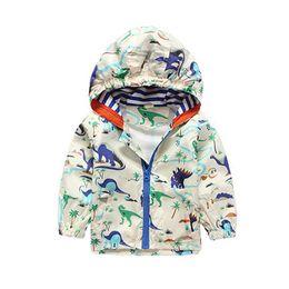 Boys Dinosaur Jacket Australia - Jacket Kids Cute Dinosaur Baby Outerwear Coat Boys Kids Hooded Children Clothing