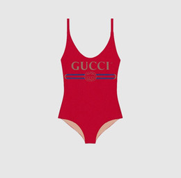 Sexy one piece SuitS online shopping - Summer Sexy Luxury Women Bikini With Letters Fashion Designer Swimwear For Women Brand Bathing Suit One piece Suit Sexy Backless Beachwear