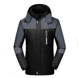 mens military parka NZ - Winter Jacket Men Velvet Warm Windproof Parka Mens Waterproof Outdoorsports Military Hooded Jackets Jaqueta Masculina Coats