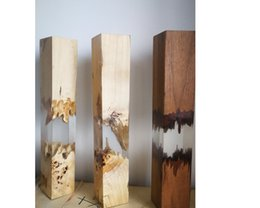 wood epoxy lamp table light led lighting CE passed factory wholesale with stock delivery in 2 days on Sale