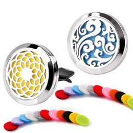 Life Gel Australia - 30mm Tree Of life Car Diffuser Locket Vent Clip Essential Oil Jewelry Aromatherapy Perfume Locket Pads Gifts Drop Shipping (Retail)