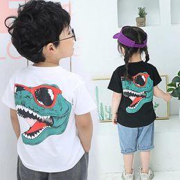 $enCountryForm.capitalKeyWord Australia - HobbyLane Kids Boys Girls Fashion Cartoon 3D Dinosaur Printing Short Sleeve T-shirt