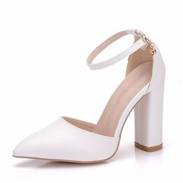 $enCountryForm.capitalKeyWord NZ - Sandals Women High Heels Summer Square Heel Platform Shoes Sexy Ladies White Sandals Party Wedding Sandal