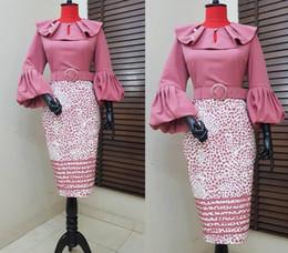 $enCountryForm.capitalKeyWord UK - Cross -Border Supply Large Lotus Leaf Collar Slim Bag Hip Lantern Sleeves Irregular Leopard Point Print Dress African Women