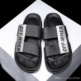 free shipping Designer Sandals Men Shoes Luxury Slide Summer Fashion Wide Flat Sandals Slipper Leather Flip Flops Outdoor beach Slippers