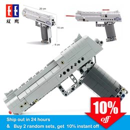 technic blocks Australia - Fit Technic Series Gun Handgun Pistol Can Fire Bullets Set Desert Eagle & M23 DIY Model Building Blocks Toys For Kids Boys Gifts SH190907