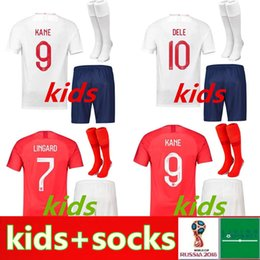 a58a40cbf57 2018 england KIDS soccer jerseyS ROONEY STERLING VARDY KANE DELE ADULT KIT  SHORTS SOCKS JERSEY HOME AWAY RED SHIRT football SHIRTS