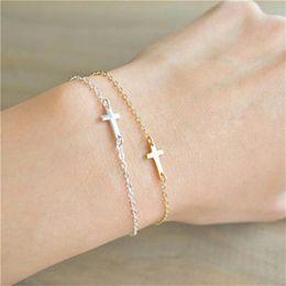 $enCountryForm.capitalKeyWord Australia - Cross bracelet paladin bracelet couple bracelet cross creative jewelry fashion personality wild simple jewelry small commodity wholesale