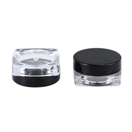 $enCountryForm.capitalKeyWord Australia - DHgate 3g 5g clear plastic cream jar with lid(mix color), square bottom lip balm pot cosmetic packaging container fast delivery