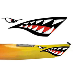 auto stickers bikes Canada - 2PCS Truck Kayak Accessories Car Sticker Auto Exterior Mouth Decal Side Door PVC Bike Fish Boat Canoe Styling Reflective