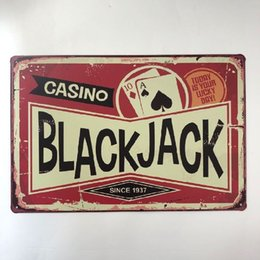 $enCountryForm.capitalKeyWord Australia - Black Jack Casino Retro Metal Sign Decorative Cafe Bar Pub Home Garage Club Hotel Wall Plaque Painting Vintage