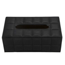 $enCountryForm.capitalKeyWord Australia - JEYL Durable Home Car Rectangle PU Leather Tissue Box Paper Holder Case Cover Napkin