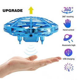Induction UFO Toy New strange gesture sensing aircraft UFO toy children drone parent-child 360° Rotating Flying UFO Drone on Sale