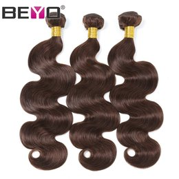 $enCountryForm.capitalKeyWord Australia - Brazilian Body Wave Hair Extensions 10-24 Inch 100% Human Hair Weave Bundles 3 Bundle Deals Light Brown Color Remy Hair Beyo