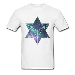 $enCountryForm.capitalKeyWord NZ - Custom Shirt For Men Best Geometric Space Star Tetrahedron Image T Shirt Short Sleeve Tees Brand New Fashion Tshirt Wholesale