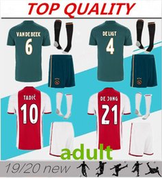 Wholesale TOP quality Ajax FC Soccer Jerseys adult kits Camisa ZIYECH TADIC DE JONG DOLBERG HUNTELAAR DE LIGT Football Shirt