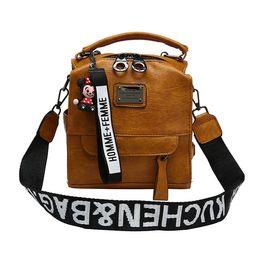 $enCountryForm.capitalKeyWord UK - Multifunction Backpack Women Learther Backpacks Female Small Messenger Crossbody Bags for Women Flap Bag Girls Back Pack Purse
