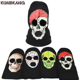 $enCountryForm.capitalKeyWord Australia - 2017 Newest Winter Skull Mask Warm Balaclava Knitted Beanies Hat Men Cool Halloween Party Wool Scarf Skull Full Face Mask Hat