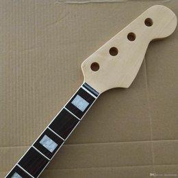 Necks guitars bass online shopping - Guitar JAZZ Bass Neck Maple String Fret Rosewood Fingerboard Replacement p6