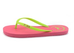$enCountryForm.capitalKeyWord Australia - Summer Love Pink dog Flip Flops Beach Pools Slippers Shoes For Women Casual PVC Home Bath Sandals Casual Slippers free ship