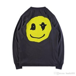 skateboard couples Canada - Kids See Ghosts Long Sleeve Pullover Tee Skateboard Street Hip Hop Casual Sweater Couple Fashion Sweatshirt T-SHIRT HFYMWY231