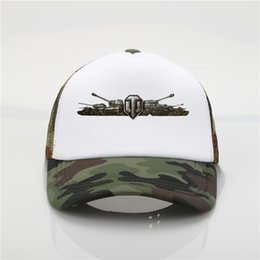 Discount youth ball caps games World Of Tanks Printing net cap baseball cap Men and women Summer Trend New Youth Joker sun hat