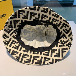 $enCountryForm.capitalKeyWord Australia - iduzi Fashion Designer Leather Letter Bucket Hat For Mens Womens Foldable Caps Black Fisherman Beach Sun Visor Sale Folding Man Bowler