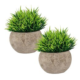 Small House Decoration Australia - Fake Plant for Bathroom Home Office Decor, Small Artificial Faux Greenery for House Decorations