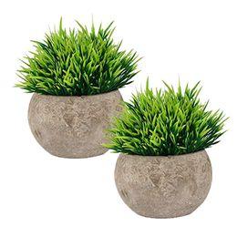 Pianta finta per bagno / Home Office Decor, piccola finta pianta artificiale per le decorazioni della casa
