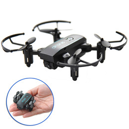 $enCountryForm.capitalKeyWord Australia - Cheap 1601 Foldable Pocket Drone with Camera HD 2MP Wide Angle WIFI FPV Altitude Hold RC Quadcopter mini Helicopter VS H47 Toys Drone