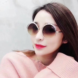 dd6fcd4c21d Pearl frame round online shopping - 2019 CH4234 female retro round  sunglasses exquisite artificial pearl decorated