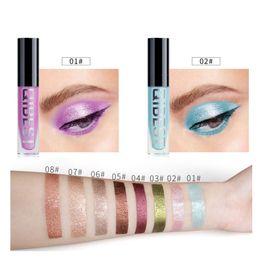 light pink eyeshadow 2019 - Liquid Glitter Eyeshadow Pencil Shimmer Eyeshadow Waterproof Long-lasting sombras de ojos New cheap light pink eyeshadow