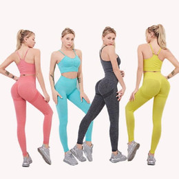 Discount soccer jersey girls Summer cotton Brand Designer Womens girl Yoga Suit short Sleeve Sportwear Tracksuits Solid Fitness gymwear Sport Clothes running outfits